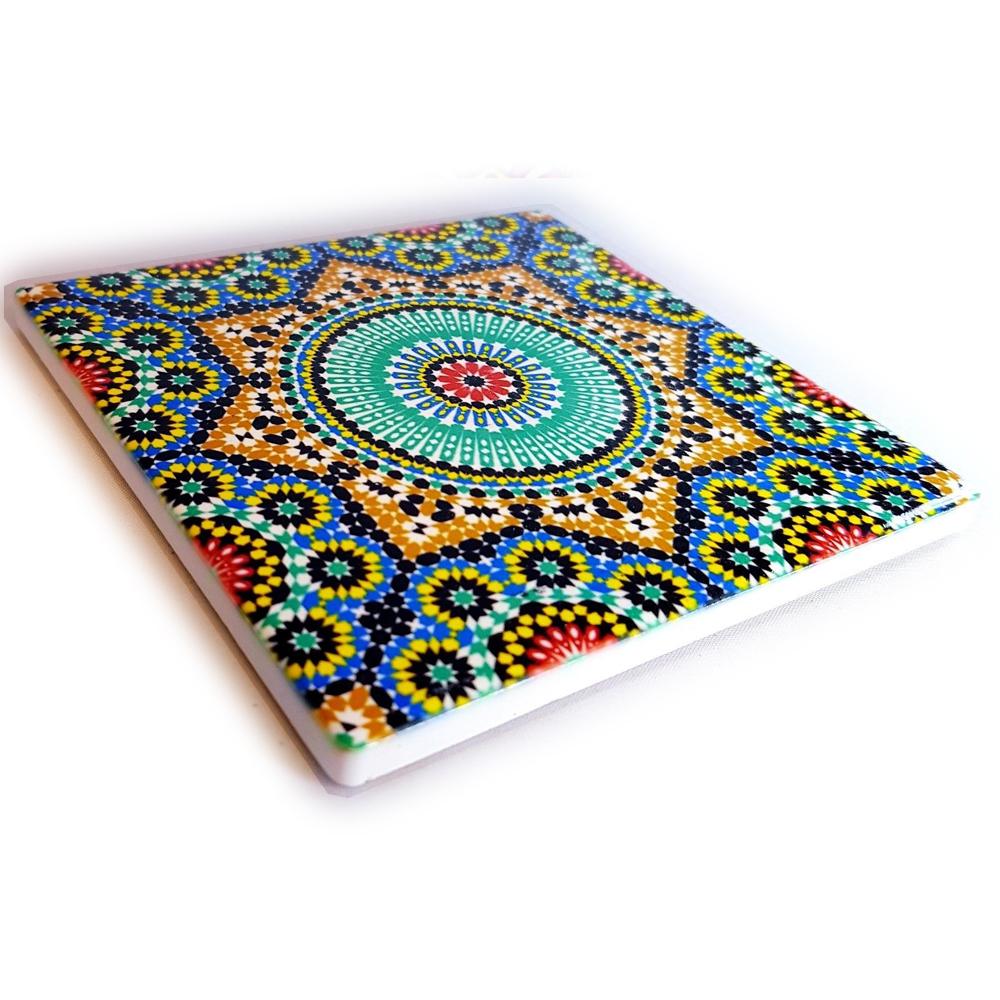 Glossy Ceramic Moroccan Coasters